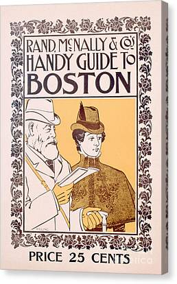 Poster Advertising Rand Mcnally And Co's Hand Guide To Boston Canvas Print by American School