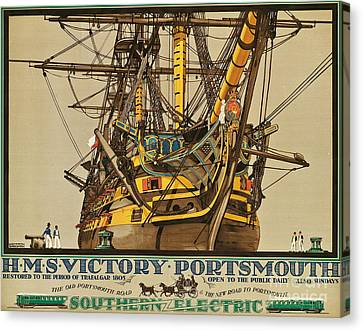 Poster Advertising Southern Electric Railways Canvas Print by Kenneth Shoesmith
