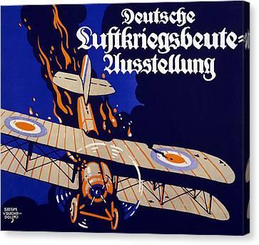 Poster Advertising The German Air War Canvas Print by Siegmund von Suchodolski