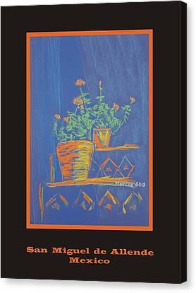 Poster - Blue Geranium Canvas Print by Marcia Meade