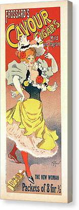 Poster For A Cigar Factory Canvas Print