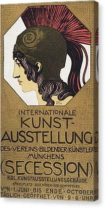 Poster For An Exhibition Canvas Print by Franz von Stuck