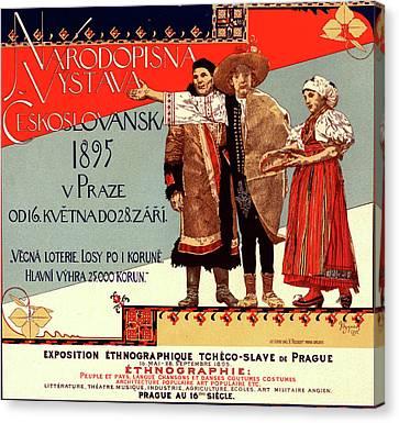 Poster For L Exposition Ethnographique Tchèco-slave De Canvas Print by Liszt Collection
