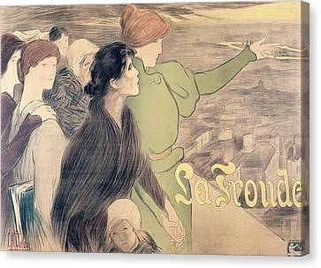 Poster For La Fronde Canvas Print by Clementine Helene Dufau
