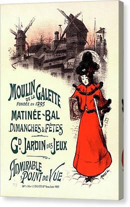 Poster For Le Moulin De La Galette Canvas Print