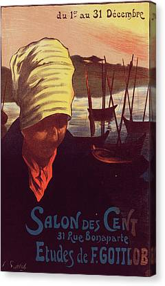 Poster For Le Salon Des Cent. Fernand-louis Gottlob Canvas Print