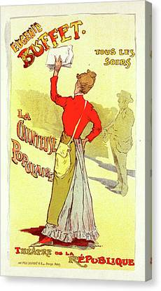 Poster For Le Théâtre De La Renaissance Canvas Print