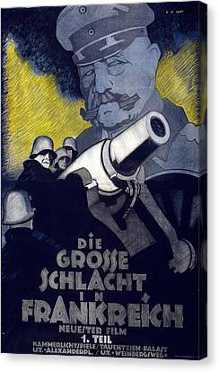 Poster For The Film The Great Battle Canvas Print by Hans Rudi Erdt