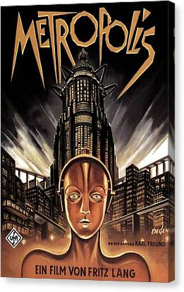 Poster From The Film Metropolis 1927 Canvas Print by Anonymous