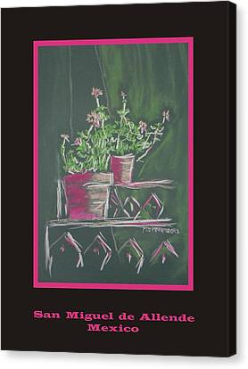 Poster - Green Geranium Canvas Print by Marcia Meade