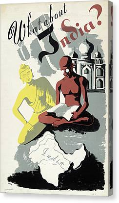 Poster India, C1943 Canvas Print by Granger