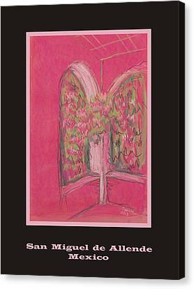 Poster - Light Pink Patio Canvas Print by Marcia Meade