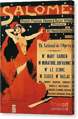 Poster Of Opera Salome Canvas Print by Richard Strauss