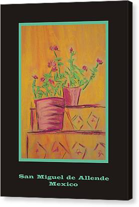 Poster - Orange Geranium Canvas Print by Marcia Meade