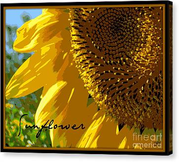 Canvas Print featuring the photograph Posterized Sunflower by Heidi Manly