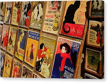 Posters In Paris Canvas Print by Dany Lison