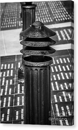 Posts 1 - Key West Aids Memorial - Black And White Canvas Print