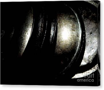 Canvas Print featuring the photograph Pot Lids by Newel Hunter
