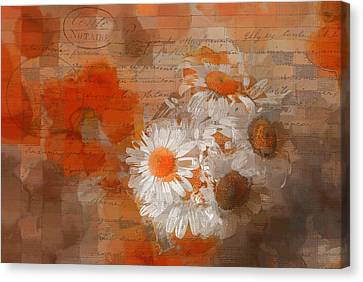 Pot Of Daisies 02 - J33027100rgn1c Canvas Print by Variance Collections