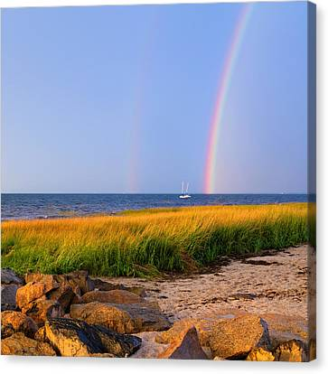 Pot Of Gold Square Canvas Print by Bill Wakeley