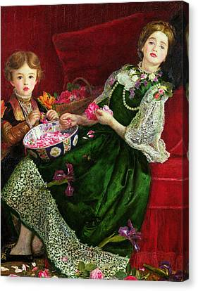 Pot Pourri  Canvas Print by Sir John Everett Millais