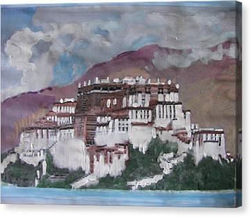 Potala Palace In Lhasa Tibet Canvas Print