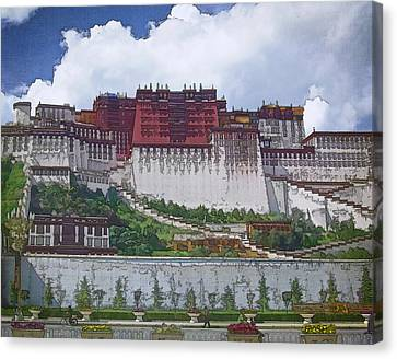 Potala Palace Canvas Print by Joan Carroll