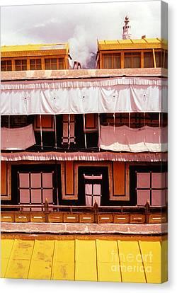 Tibetan Canvas Print - Potala Palace Rooftop - Lhasa Tibet by Anna Lisa Yoder