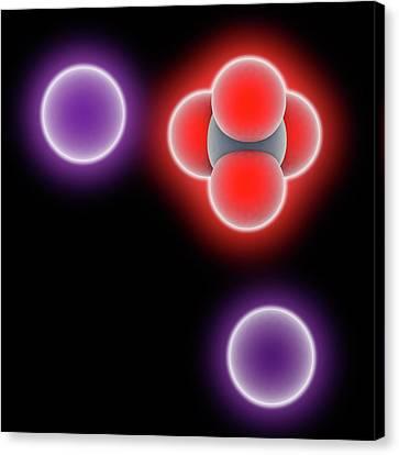 Potassium Chromate Molecule Canvas Print by Laguna Design