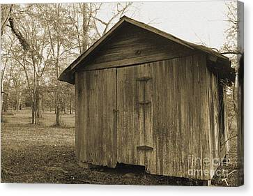 Potato Shed Canvas Print by Russell Christie