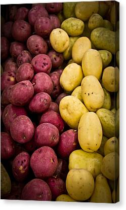 Canvas Print featuring the photograph Potatoes by Aaron Berg