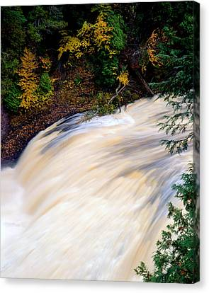 Potawatami Falls Canvas Print by Tim Hawkins