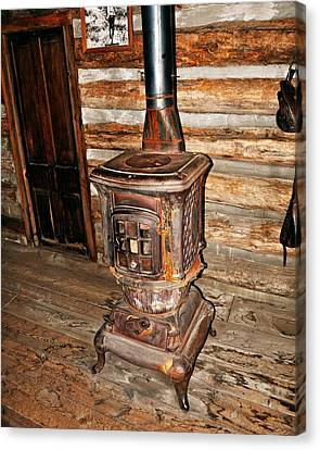 Potbelly Stove Canvas Print by Marty Koch