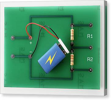 Potential Divider Of Electronic Circuit Canvas Print