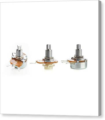 Potentiometers Canvas Print by Science Photo Library