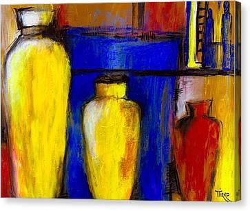 Poteries Au Marche De Javea Canvas Print by Mirko Gallery