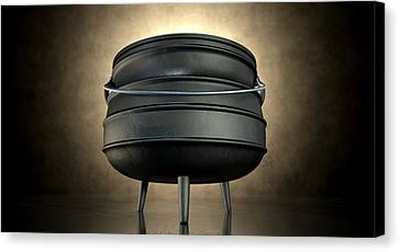 South Africa Canvas Print - Potjiekos Pot Black by Allan Swart