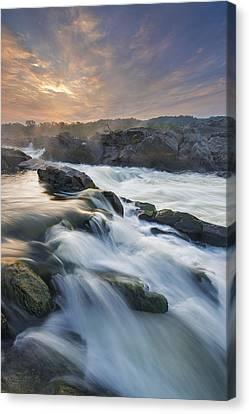 Great Falls Park Canvas Print - Potomac Light Show by Joseph Rossbach