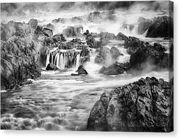 Great Falls Park Canvas Print - Potomac Mist by Mike Lang