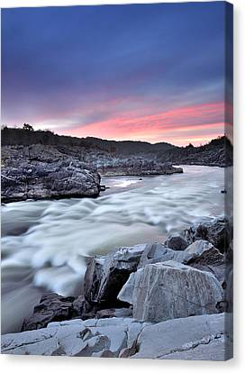Potomac River At Great Falls Park - Sunrise Canvas Print