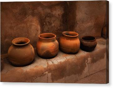 Pots ... Canvas Print by Chuck Caramella