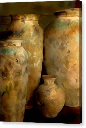 Pots Of Time Canvas Print by Michael Pickett