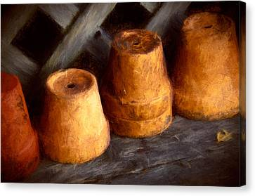 Pots Shed Canvas Print by John K Woodruff