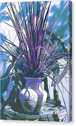Potted In Blue Canvas Print