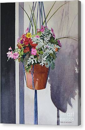 Potted Posies Canvas Print by Karol Wyckoff