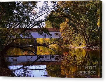 Potter's Covered Bridge Reflection Canvas Print