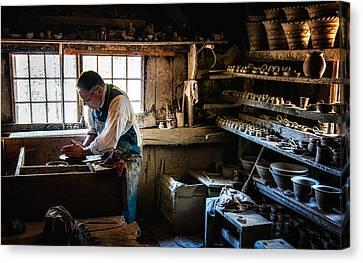 Potters Shed Canvas Print by Scott Thorp