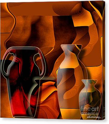 Pottery And Vase 1 Canvas Print