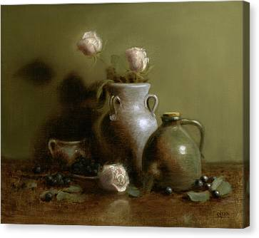 Burnt Umber Canvas Print - Pottery Collection. by Christy Olsen