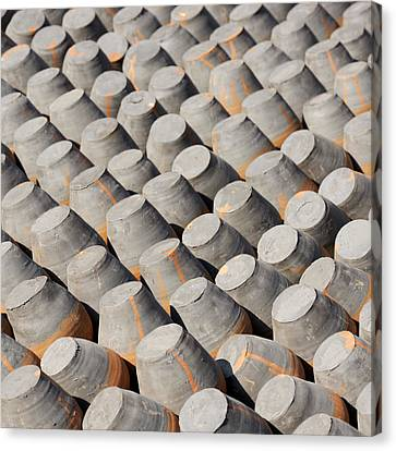 Pottery Drying In The Sun Canvas Print by Dutourdumonde Photography